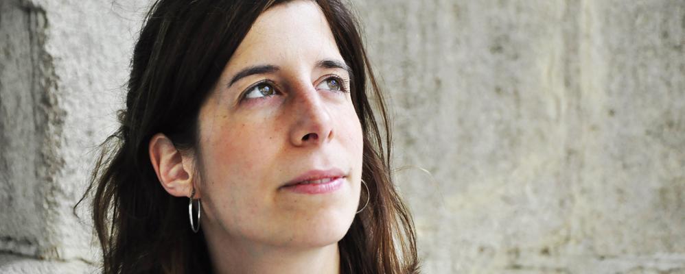 La poeta Anna Gual, fotografiada a Vilafranca