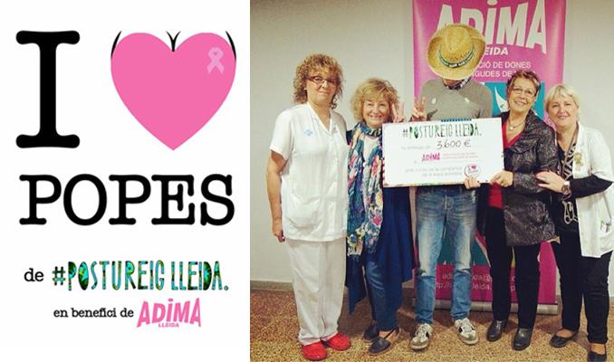 Entrega dels diners recaptats a ADIMA, associació de dones intervingudes de mama