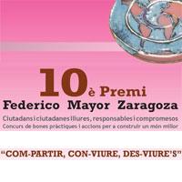 10è Premi Federico Mayor Zaragoza - Tortosa 2017