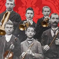 Detall del cartell d'enguany, una banda de música local de l'època