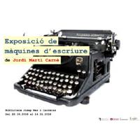Exposició de màquines d'escriure