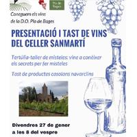 Presentació del celler Sanmartí amb tast de vins