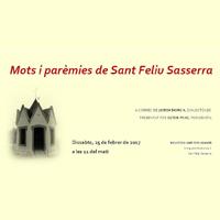Mots i parèmies, 'El parlar de Sant Feliu Sasserra'