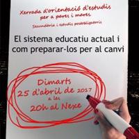 Xerrada 'El sistema educatiu actual i com preparar-los per al canvi'