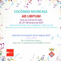 Colònies musicals 'Ad Libitum'