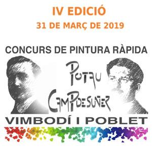 IV Concurs de Pintura Ràpida Potau-Campdesuñer, Vimbodí i Poblet, 2019
