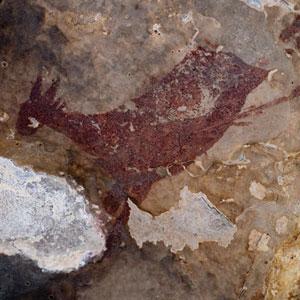 Pintura rupestre al Cocó de la Gralla