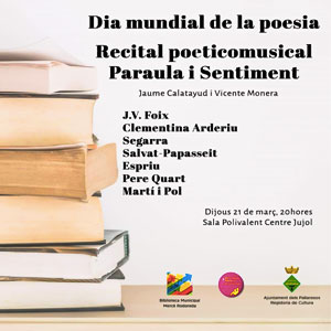 Recital 'Paraula i Sentiment', Pallaresos, 2019