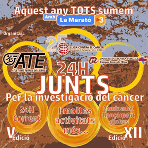 24 h Junts per la investigació del càncer - Tortosa 2018
