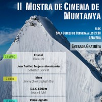 II Mostra de Cinema de Muntanya, Cervera, Segarra, març,  abril, 2017, Surtdecasa Ponent