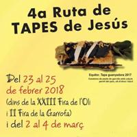 4a Ruta de Tapes de Jesús - 2018