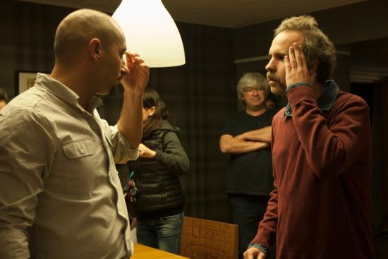 Alain Henández i Marc Crehuet al rodatge d''El rei borni'