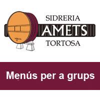 Sidreria Amets - Menús per a grups