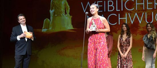 Anna Brull a l'entrega del premi