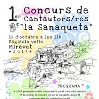 1r Concurs de cantautors i cantautores La Sanaqueta