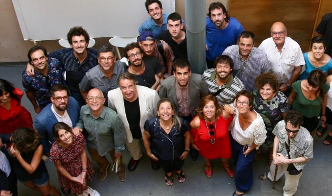 Isona Passola amb membres de l'Acadèmia i equips i institucions implicats al Cicle Gaudí