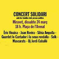 Concert solidari amb les famílies del presos polítics - Miravet 2018
