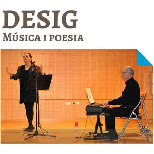 Concert, Desig, música, poesia, M Carme Domingo, Joan Biosca, Josep Maria Gomis, Antena del Coneixement, Campus Extens de la URV, Cripta de l'Ermita, Cambrils, Camp de Tarragona, 2018