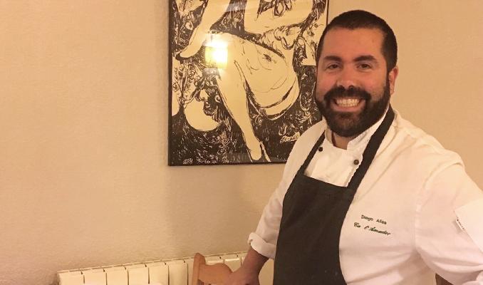 Diego Alías al restaurant Ca l'Amador