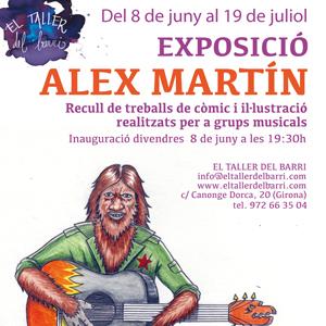Exposició Alex Martín, Recull de treballs de còmic i il·lutsració realitzats per a grups musicals,