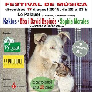 Festival de música pels animals de companyia abandonats - Tortosa 2018