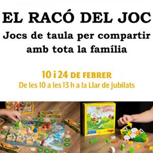Racó del Joc: Jocs de taula per a compartir amb tota la família, Cassà de la Selva, 2019