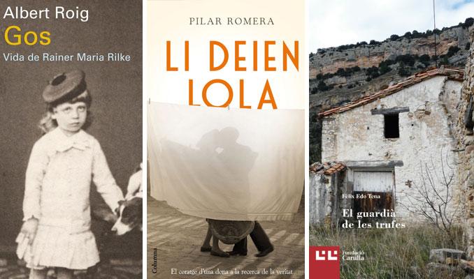 Llibres 'Gos', 'Li deien Lola' i 'El guardià de les trufes'