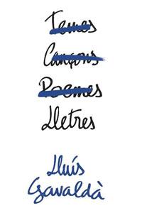 Llibre 'Lletres' de Lluís Gavaldà