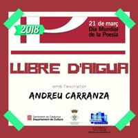 Espectacle 'Llibre d'aigua' amb Andreu Carranza