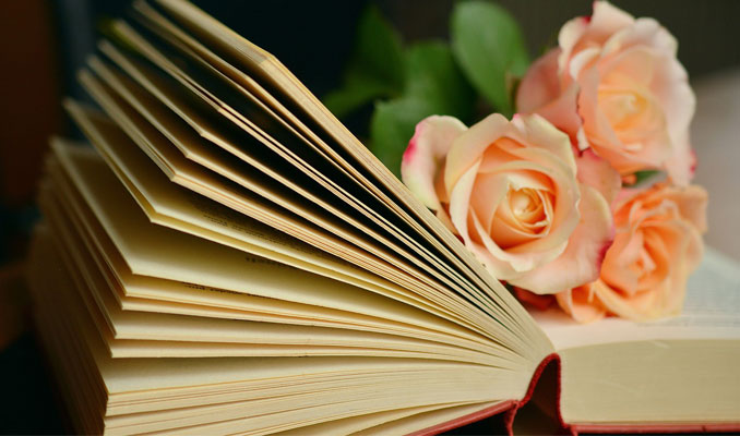 Llibre i roses