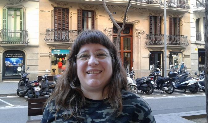 "Mireia Redondo, autora de ""Tal com raja"" (Barcelona, 07/03/2018)"