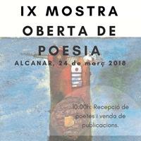 IX Mostra Oberta de Poesia - Alcanar 2018