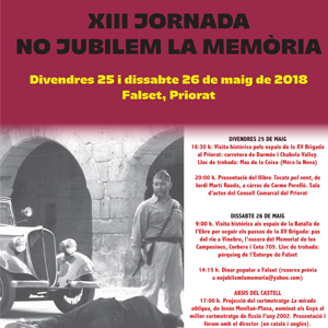 XIII Jornada No Jubilem la Memòria Falset