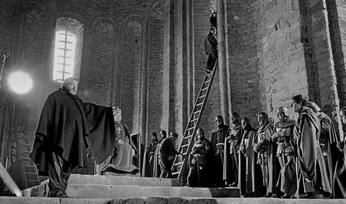 Orson Welles rodant a Cardona
