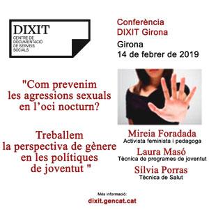Conferència 'Com prevenim les agressions sexuals en l'oci nocturn?'