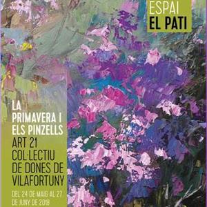 Exposició La primavera i els pinzells Col·lectiu de Dones de Vilafortuny
