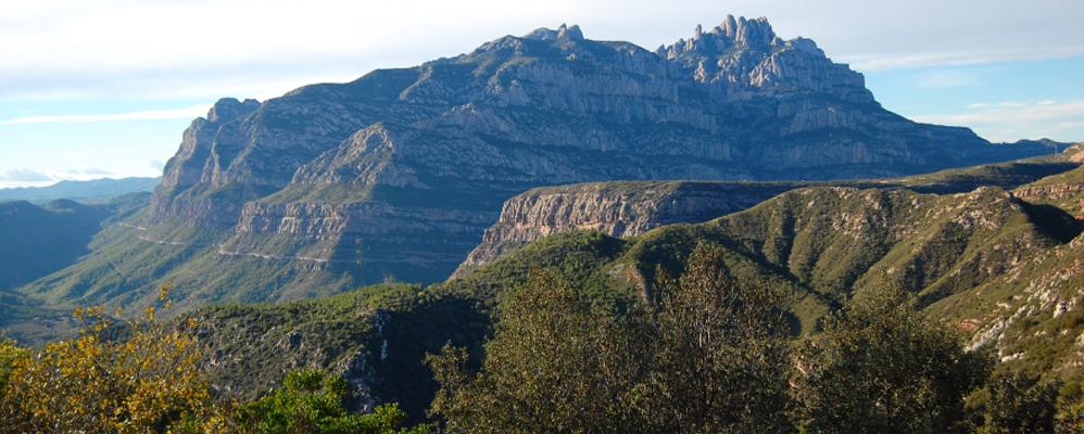 vista des del camí a Sant Salvador de les Espases des d'Olesa