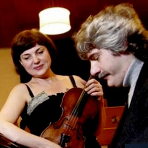 Salut d'amour amb Ala Voronkova violí i Guerassim Voronkov al piano