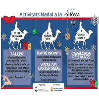 Cartell amb la programació de les activitats de Nadal