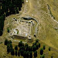 Imatge aèria del castell de Llívia
