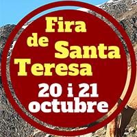Fragment del cartell de la Fira de Santa Teresa