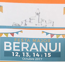 Fragment del cartell de la Festa Major de Beranui