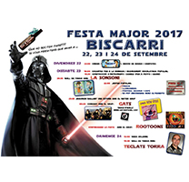 Cartell de la Festa Major de Biscarri 2017