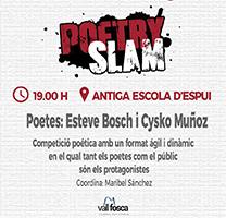 Fragment del cartell del Poetry slam de la Vall Fosca