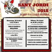 Fragment del cartell de la Diada de Sant Jordi de Sort