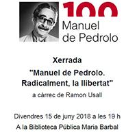 Pedrolo és el fil conductor d'aquesta xerrada de Ramon Usall