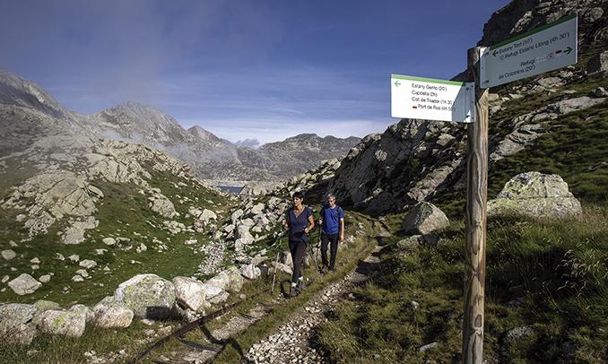 L'encreuament per anar a l'Estany Tort, al Parc Nacional d'Aigüestortes. Foto de Jordi Tutusaus