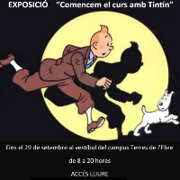 Comencem el curs amb Tintín - exposició URV Tortosa 2017