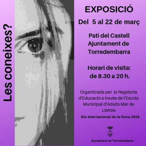 Exposició 'Les coneixes?' a Torredembarra, 2019
