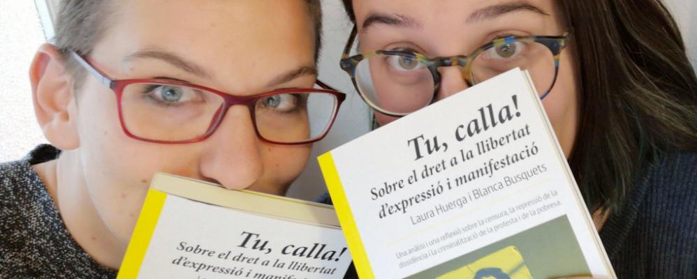 """Laura Huerga i Blanca Busquets, autores de """"Tu, calla!"""""""